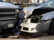 close up picture of two cars involved in an road traffic accident used by Swain & Co personal injury solicitors to depict insurers wanting changed to whiplash injury claims